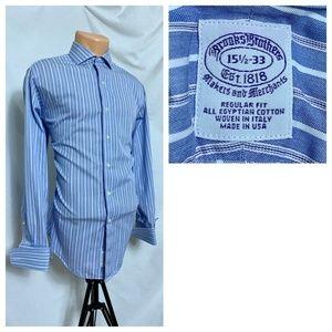 Brooks Brothers 15.5 - 33 French Cuff Stripe Shirt